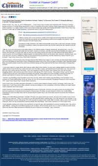 Forex Peace Army -  California Chronicle - discover power of giving