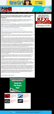 Forex Peace Army -  KTVG-TV FOX-17 / KSNB-TV FOX-4 (Kearney, NE) - discover power of giving