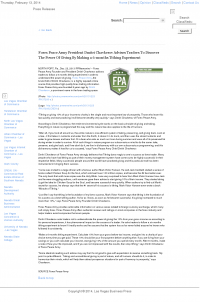Forex Peace Army -  Las Vegas Business Press - discover power of giving