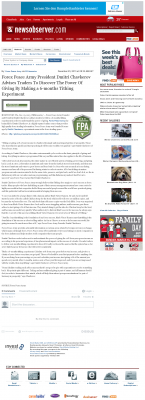 Forex Peace Army -  News & Observer (Raleigh, NC) - discover power of giving