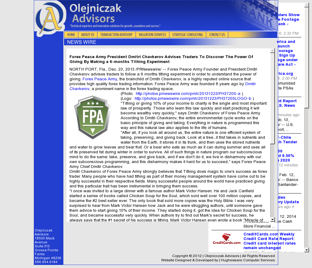 Forex Peace Army - Olejniczak Advisors- discover power of giving