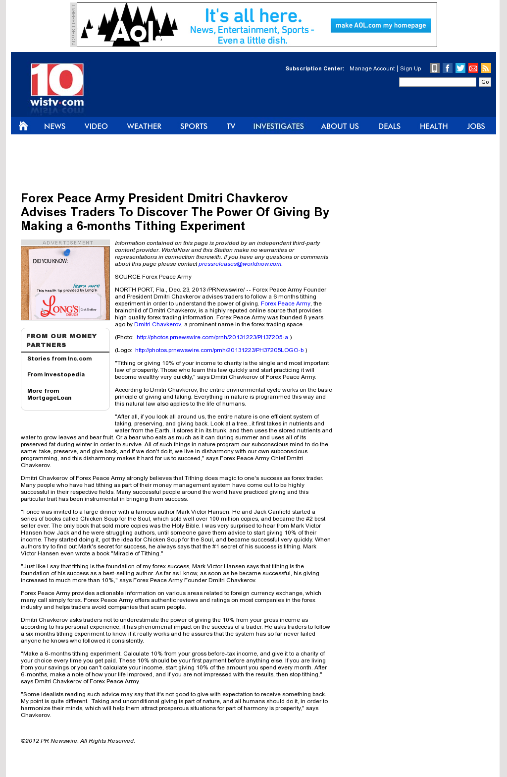 Secret news weapon forex peace army