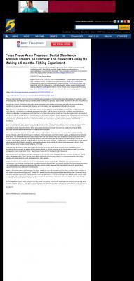 Forex Peace Army -  WMC NBC-5 (Memphis, TN) - discover power of giving