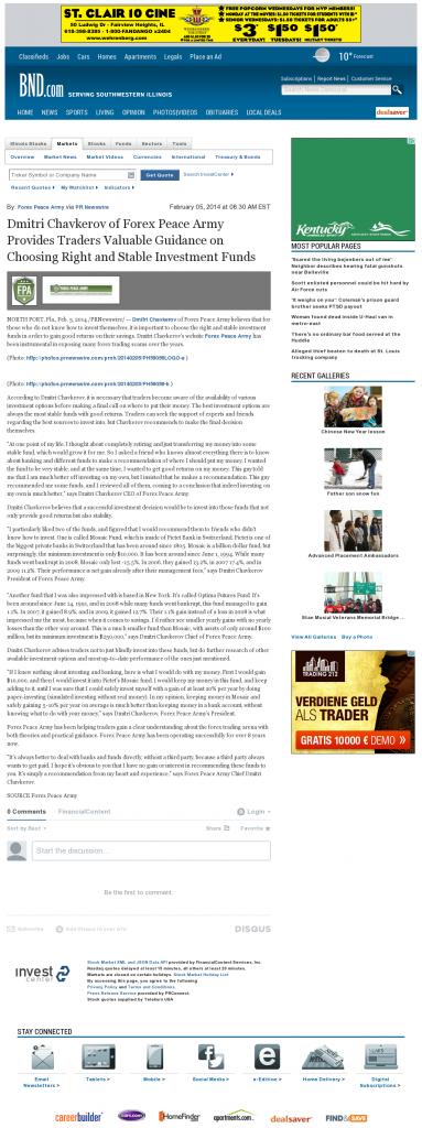 Dmitri Chavkerov - Belleville News-Democrat- considering stable investment options