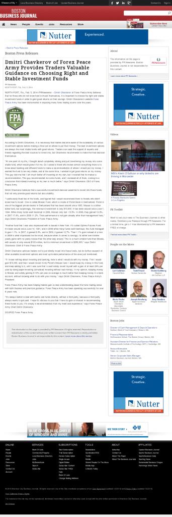 Dmitri Chavkerov - Boston Business Journal- considering stable investment options