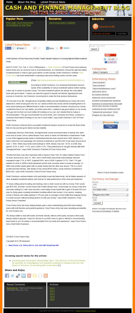 Dmitri Chavkerov - Cash and Finance Management Blog- considering stable investment options