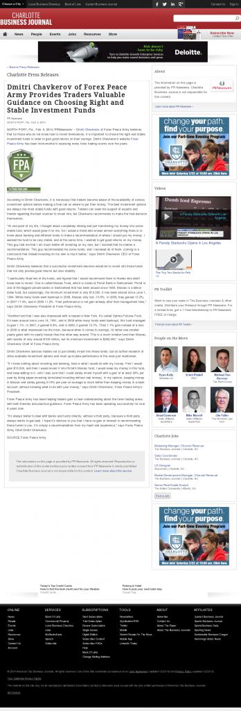 Dmitri Chavkerov - Charlotte Business Journal- considering stable investment options