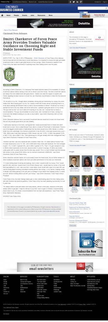 Dmitri Chavkerov - Cincinnati Business Courier- considering stable investment options