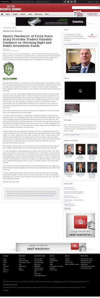 Dmitri Chavkerov - Dayton Business Journal- considering stable investment options
