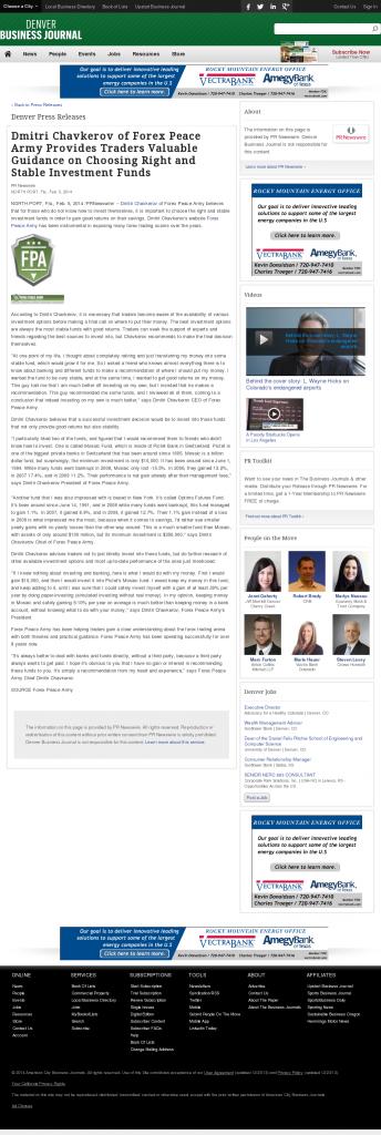 Dmitri Chavkerov - Denver Business Journal- considering stable investment options