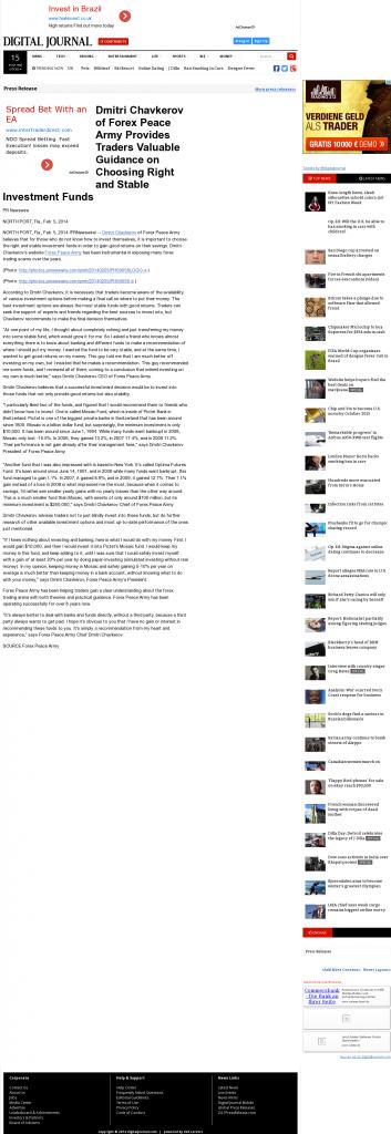 Dmitri Chavkerov - Digital Journal- considering stable investment options