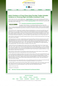 Dmitri Chavkerov -  Gold Alliance Group - considering stable investment options