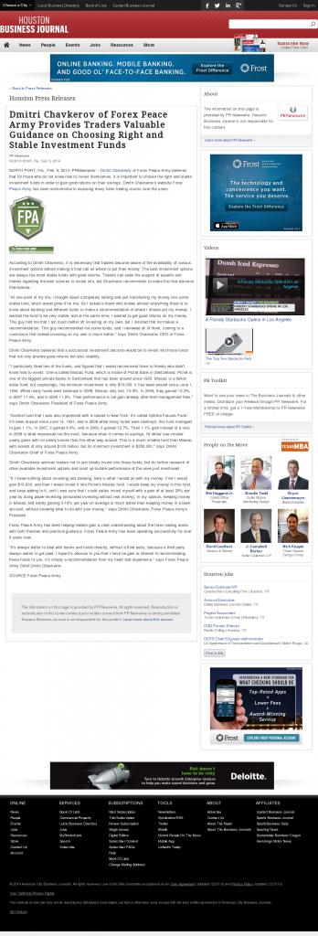 Dmitri Chavkerov - Houston Business Journal- considering stable investment options