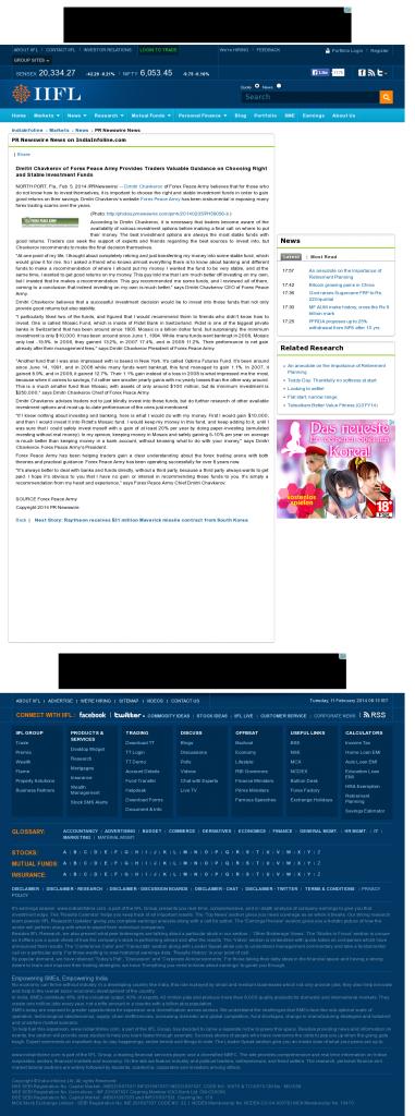 Dmitri Chavkerov - India Infoline- considering stable investment options