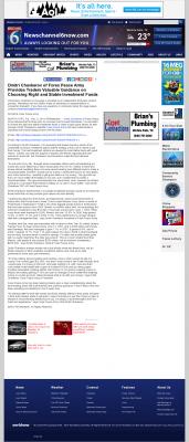 Dmitri Chavkerov -  KAUZ-TV CBS-6 (Wichita Falls, TX) - considering stable investment options