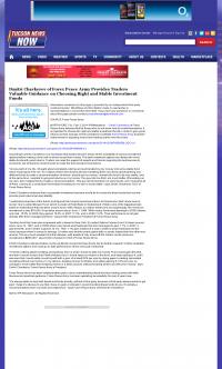 Dmitri Chavkerov -  KOLD CBS-13 (Tucson, AZ) - considering stable investment options