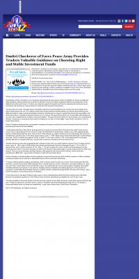 Dmitri Chavkerov -  KSLA CBS-12 (Shreveport, LA) - considering stable investment options