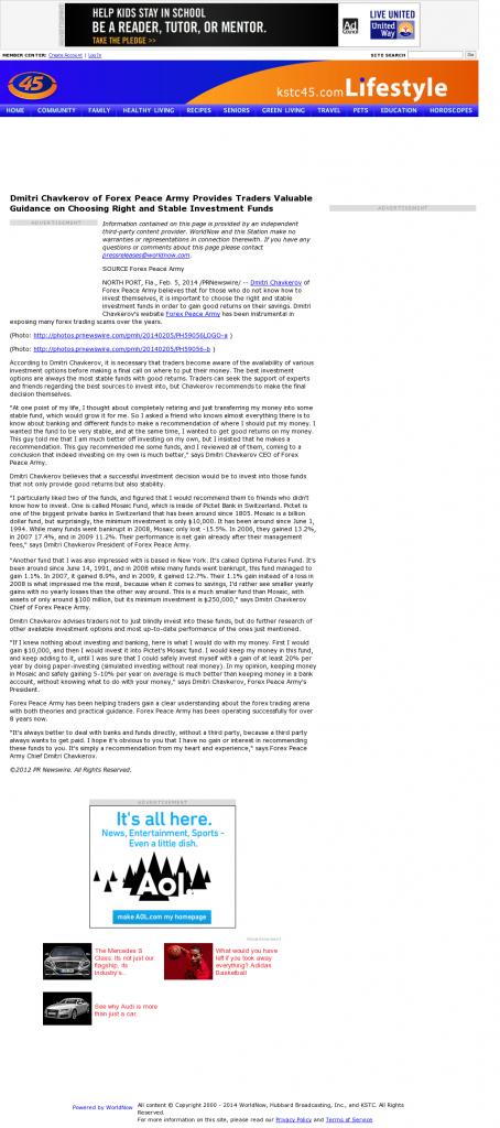 Dmitri Chavkerov - KSTC-TV IND-45 (Saint Paul, MN)- considering stable investment options