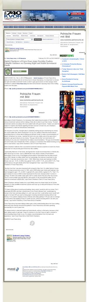 Dmitri Chavkerov - KVOR 740-AM (Colorado Springs, CO)- considering stable investment options
