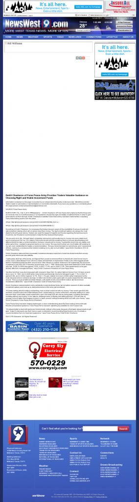 Dmitri Chavkerov - KWES-TV NBC-9 (Midland, TX)- considering stable investment options