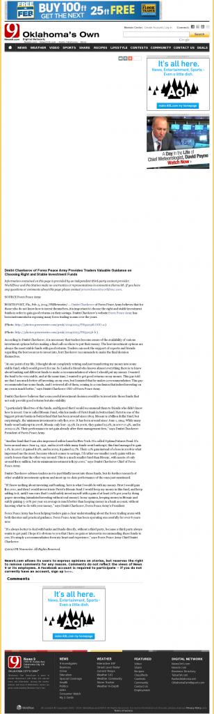 Dmitri Chavkerov - KWTV-TV CBS-9 (Oklahoma City, OK)- considering stable investment options