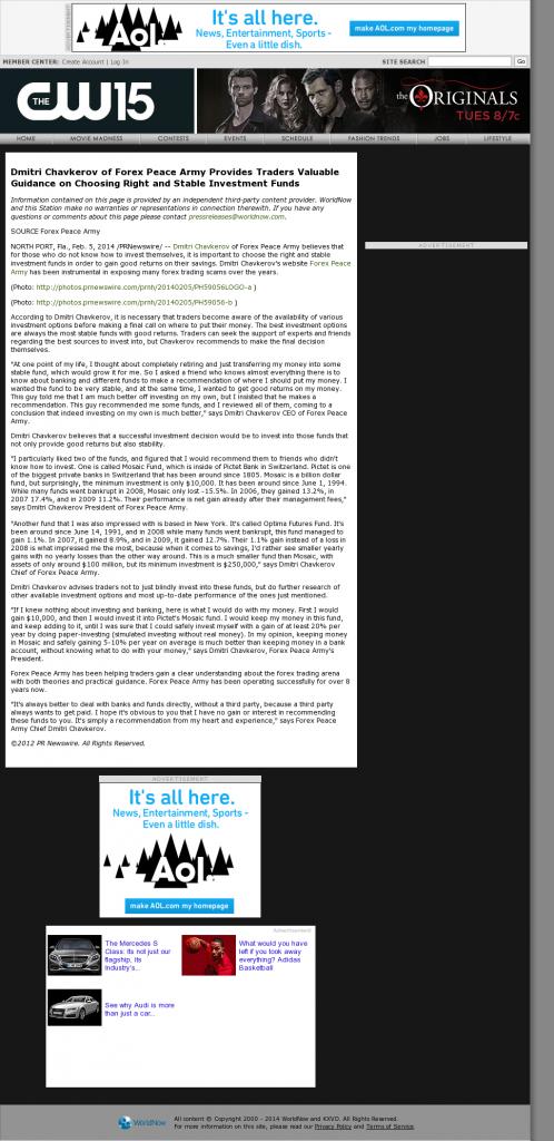 Dmitri Chavkerov - KXVO-TV CW-15 (Omaha, NE)- considering stable investment options