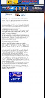 Dmitri Chavkerov -  KXXV-TV ABC-25 (Waco, TX) - considering stable investment options