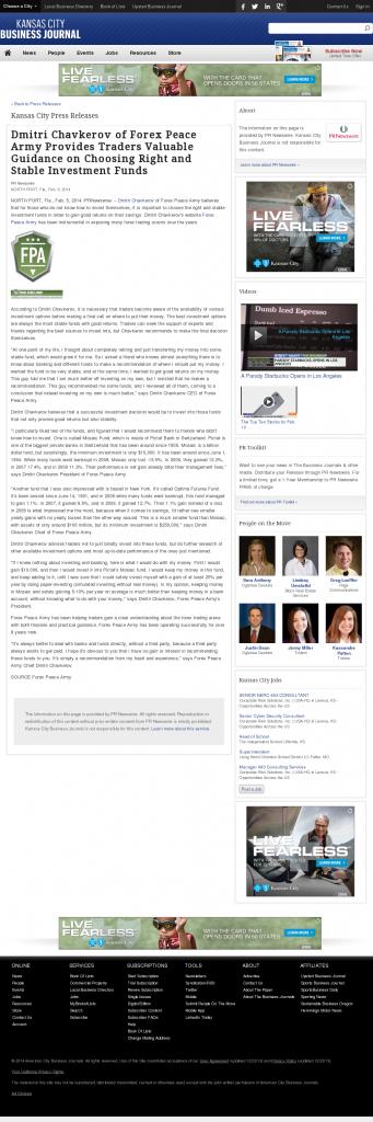 Dmitri Chavkerov - Kansas City Business Journal- considering stable investment options