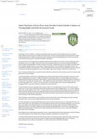 Dmitri Chavkerov -  Las Vegas Business Press - considering stable investment options