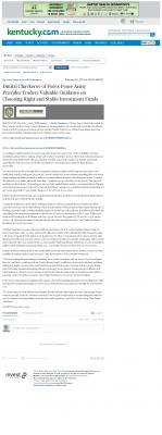 Dmitri Chavkerov -  Lexington Herald-Leader (Lexington, KY) - considering stable investment options