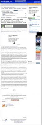 Dmitri Chavkerov -  Long Beach Press-Telegram (Long Beach, CA) - considering stable investment options