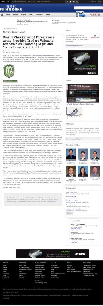 Dmitri Chavkerov - Memphis Business Journal- considering stable investment options