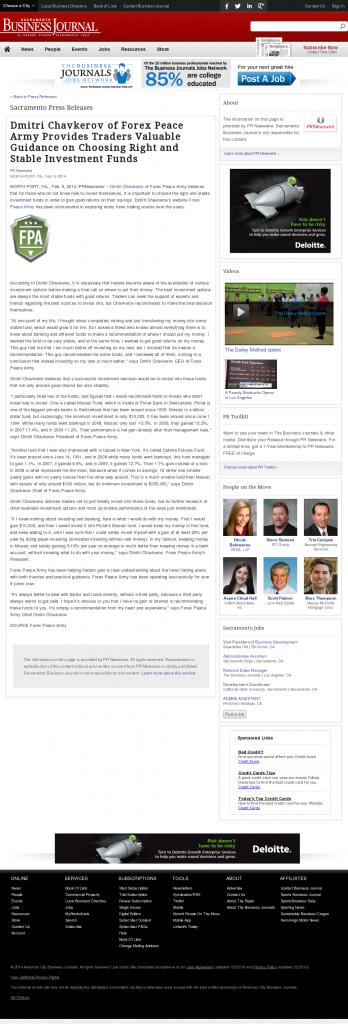 Dmitri Chavkerov - Sacramento Business Journal- considering stable investment options