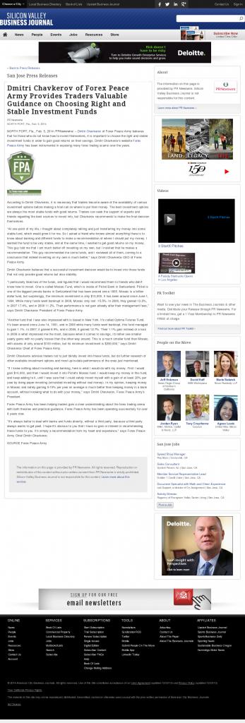 Dmitri Chavkerov - San Jose Business Journal- considering stable investment options