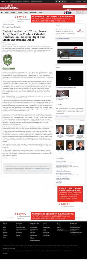 Dmitri Chavkerov - St. Louis Business Journal- considering stable investment options