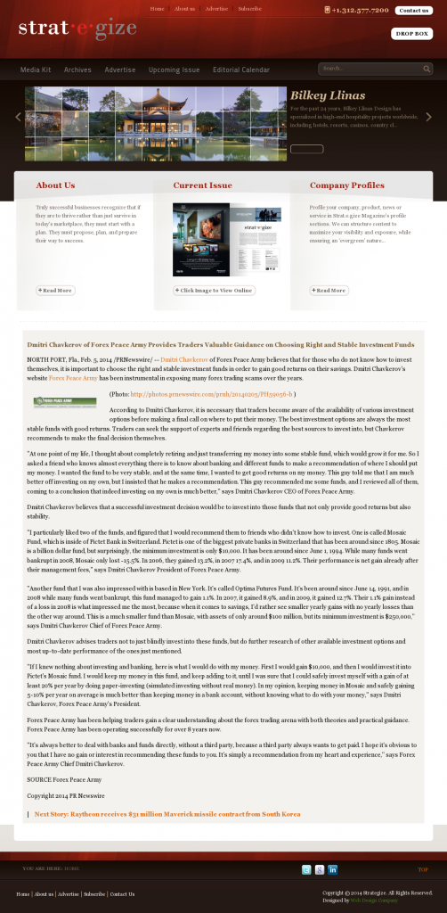 Dmitri Chavkerov - Strategize Magazine- considering stable investment options