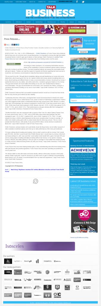 Dmitri Chavkerov - Talk Business Magazine- considering stable investment options