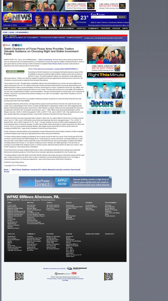 Dmitri Chavkerov - WFMZ- considering stable investment options