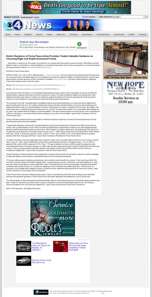 Dmitri Chavkerov - WHBF CBS-4 (Rock Island, IL)- considering stable investment options
