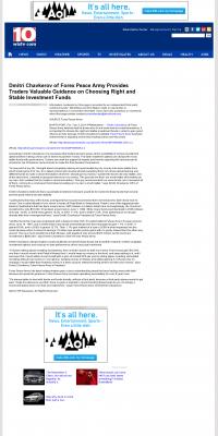 Dmitri Chavkerov -  WISTV NBC-10 (Columbia, SC) - considering stable investment options