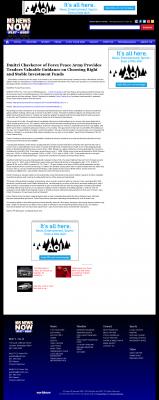 Dmitri Chavkerov -  WLBT NBC-3 (Jackson, MS) - considering stable investment options