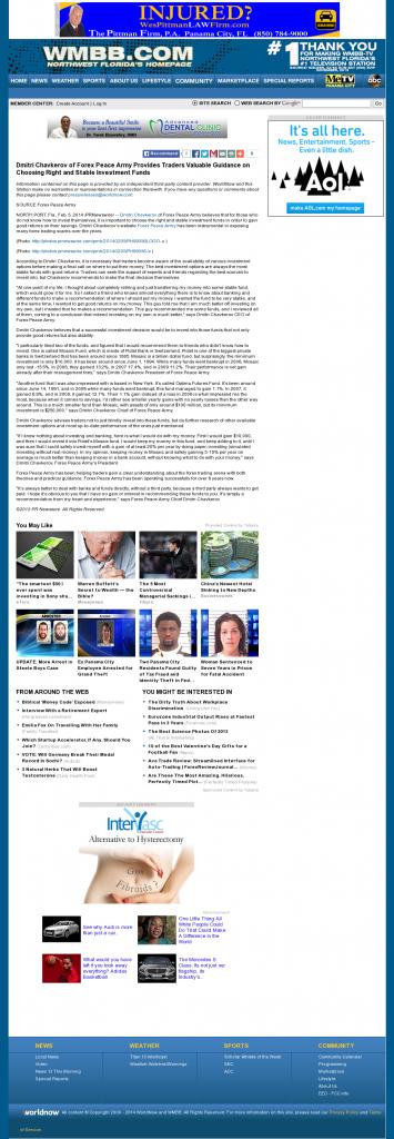 Dmitri Chavkerov - WMBB-TV ABC-13 (Panama City, FL)- considering stable investment options