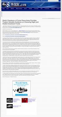 Dmitri Chavkerov -  WRIC ABC-8 (Richmond, VA) - considering stable investment options