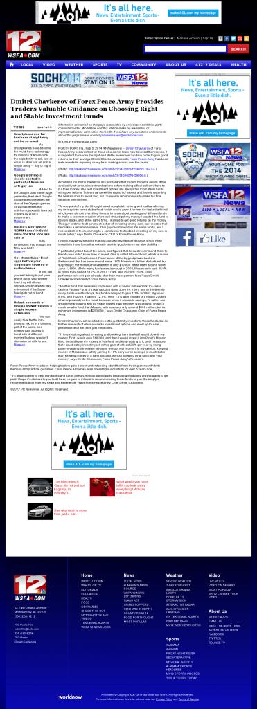 Dmitri Chavkerov - WSFA NBC-12 (Montgomery, AL)- considering stable investment options