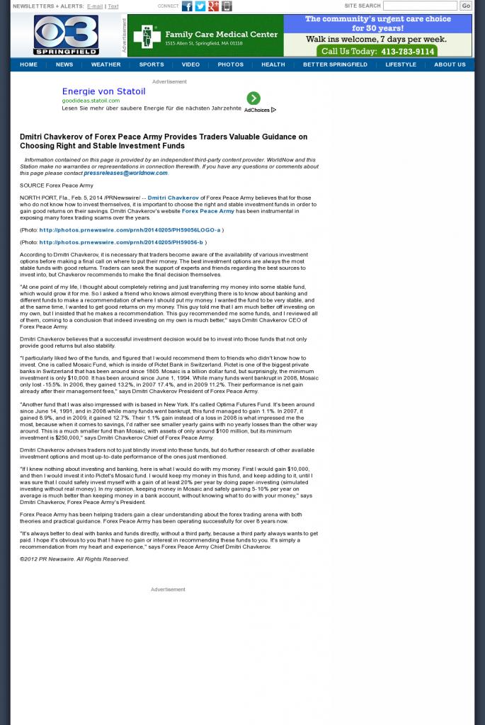 Dmitri Chavkerov - WSHM-TV CBS-3 (Springfield, MA)- considering stable investment options