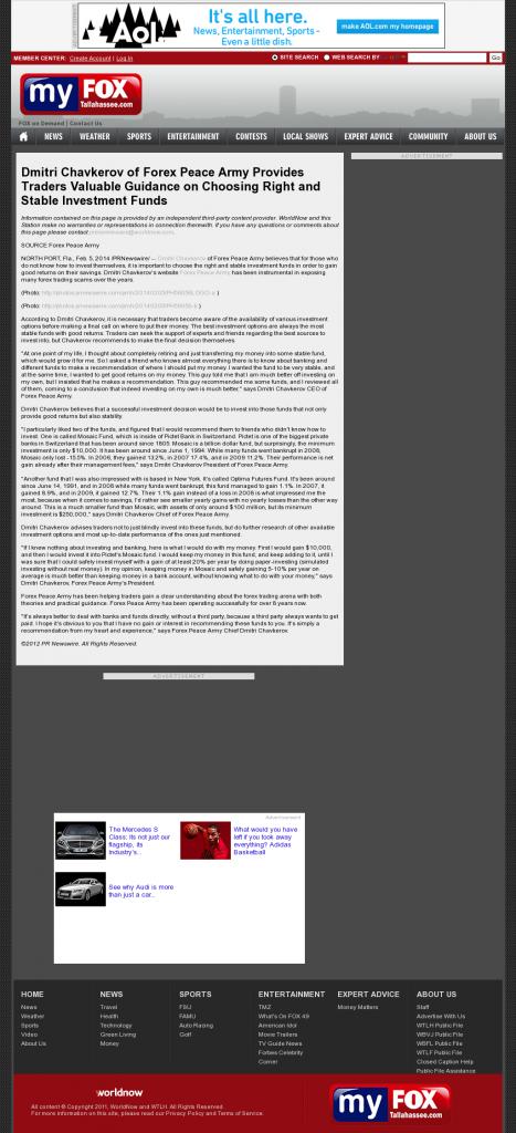 Dmitri Chavkerov - WTLH-TV FOX-49 (Tallahassee, FL)- considering stable investment options