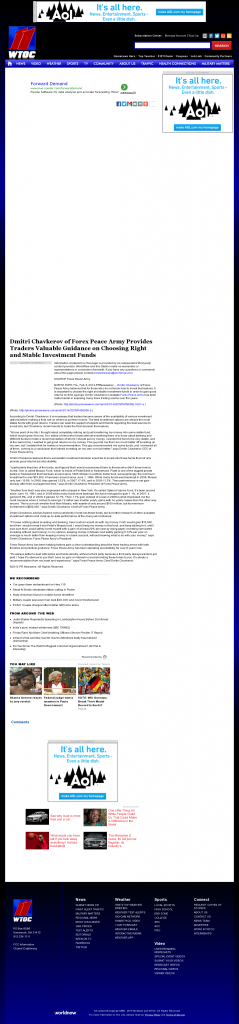 Dmitri Chavkerov - WTOC CBS-11 (Savannah, GA)- considering stable investment options