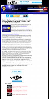 Dmitri Chavkerov -  WTVM ABC-9 (Columbus, GA) - considering stable investment options