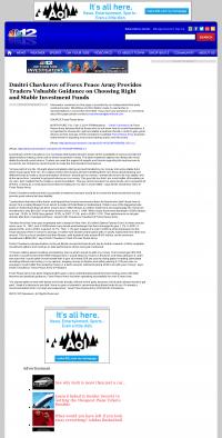 Dmitri Chavkerov -  WWBT NBC-12 (Richmond, VA) - considering stable investment options