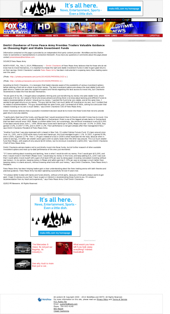 Dmitri Chavkerov - WXTX-TV FOX-54 (Columbus, GA)- considering stable investment options